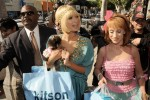Paris Hilton and Kathy Griffin shop together as they film a reality series along Robertson Boulevard in Beverly Hills, Ca