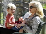 Gwen Stefani and son Kingston Rossdale spend the afternoon in Coldwater Canyon Park in Beverly Hills, Ca with their two sons Kingston and Zuma