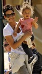 Halle Berry and daughter Nahla spend the afternoon in Coldwater Canyon Park in Beverly Hills, Ca