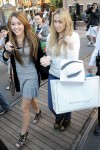 Miley Cyrus causes a fan and paparazzi choas while shopping at Americana Shopping Mall in Glendale, Ca