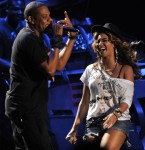 Beyonce and Jay Z perform on The Main Stage during the Coachella Music Festival in Indio, Ca