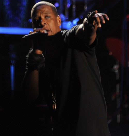 Rapper  Jay Z performs on the Main Stage on Day 1 of the Coachella Music Festival in Indio, Ca