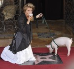 Emma Thompson gets honored with a star in thne Hollywood Walk Of Fame in front of the Pig and Whistle Pub in Hollywood, Ca