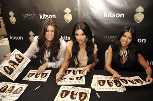 The Kardashian sisters at the Kitson Store in Beverly Hills, Ca