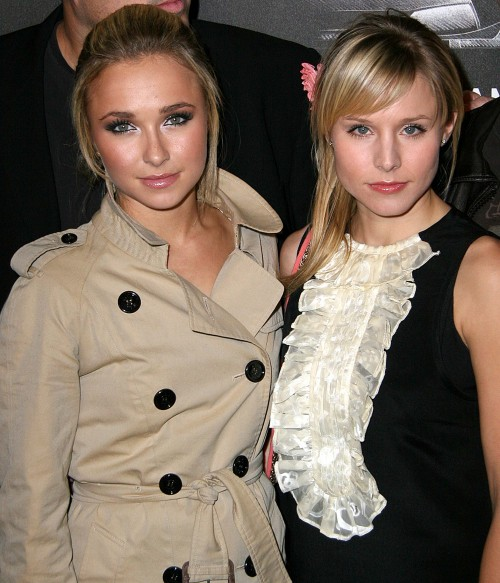 Hayden Panettiere, Kristen Bell at the The Race To Fight Epilepsy event which started off at the Skirball Centre by celebrites driving off in Lamborghini's on November 14, 2007 in Los Angeles, California.