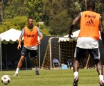 Real Madrid Soccer star Cristiano Ronaldo practices at UCLA in Westwood, Ca during the team visit to the US